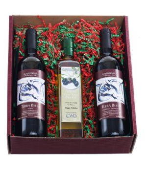 Gift Box With 3 Bottles ( 2 Wine & 1 Olive Oil)